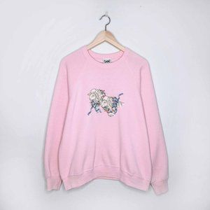 LEE embroidered lamb sweatshirt - size xl